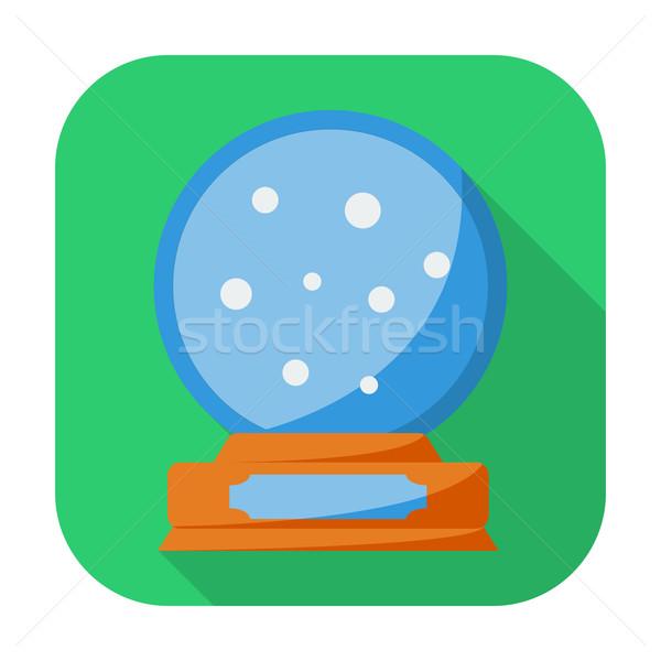 Рождества снега купол икона кнопки дизайна Сток-фото © smoki