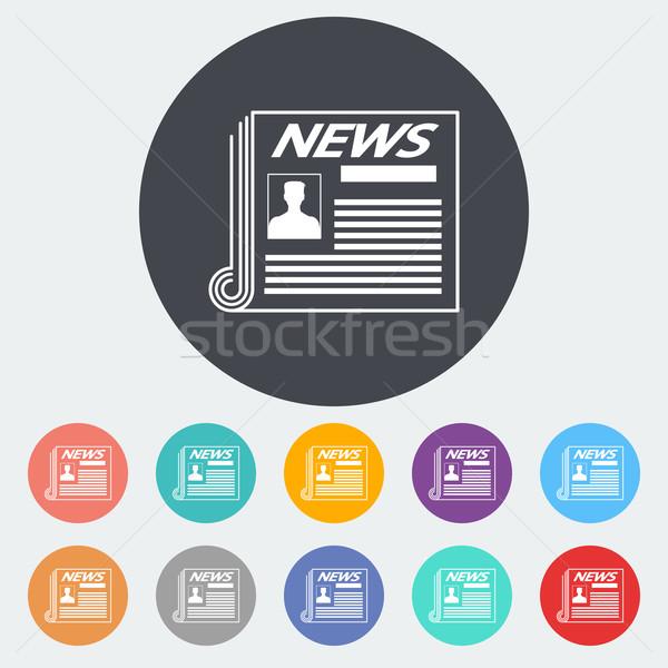 Newspaper icon. Stock photo © smoki