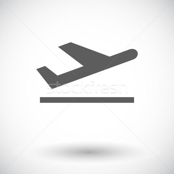 Aankomst icon witte business ontwerp deur Stockfoto © smoki