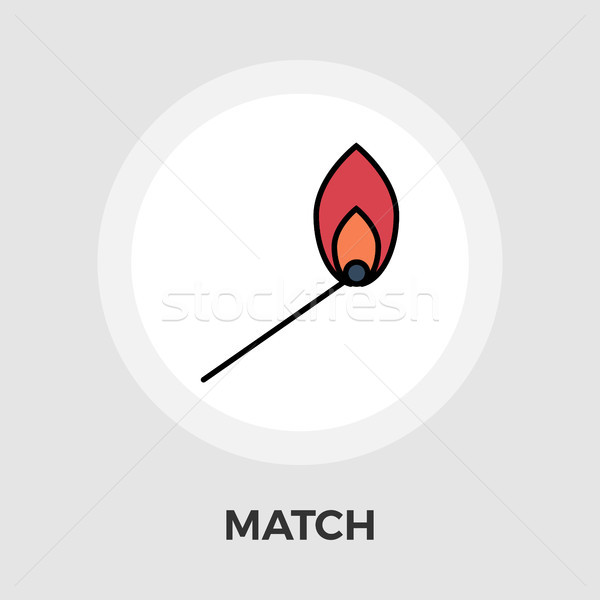 Match vector flat icon Stock photo © smoki