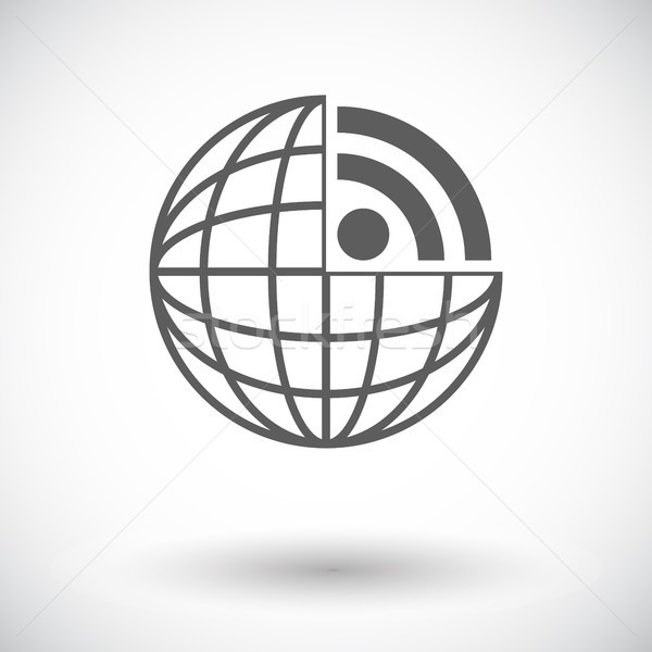 Rss ikona biały działalności komputera świat Zdjęcia stock © smoki