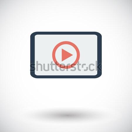 видео икона белый компьютер фильма технологий Сток-фото © smoki