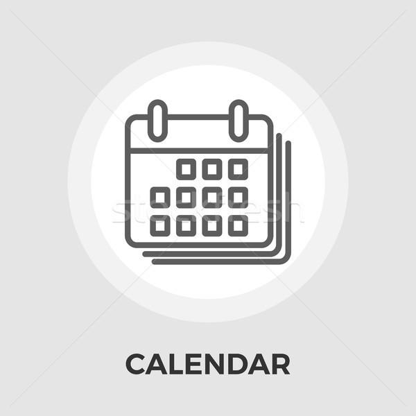 Calendario icona vettore isolato bianco Foto d'archivio © smoki