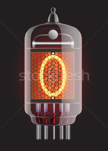 Nixie radio tube. Stock photo © smoki
