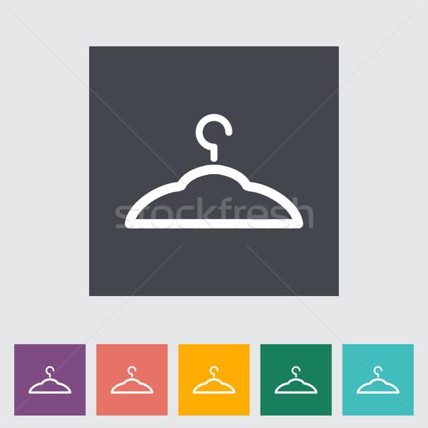 Hanger icon knop metaal silhouet kleding Stockfoto © smoki