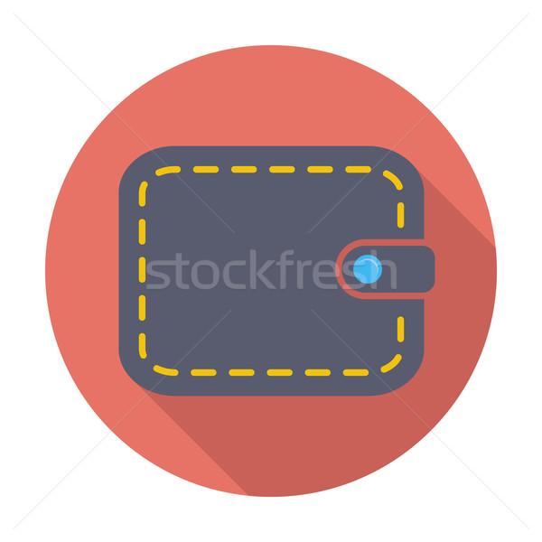 кошелька икона цвета деньги торговых знак Сток-фото © smoki