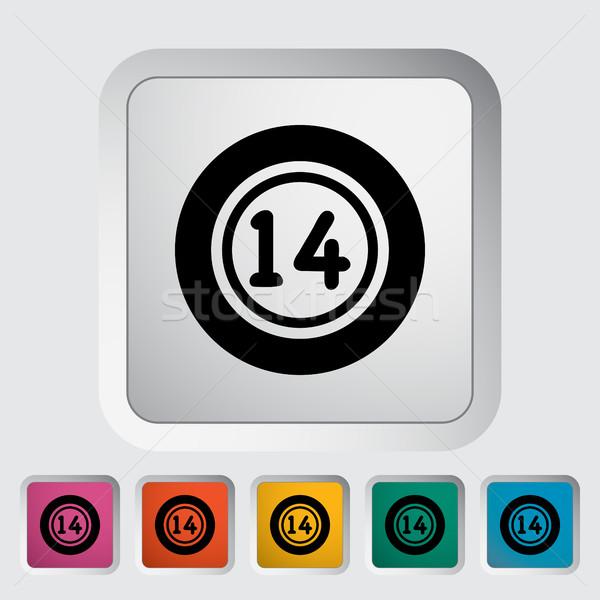 Loterij bal icon knop sport ontwerp Stockfoto © smoki