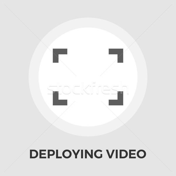 Deploying video vector flat icon Stock photo © smoki
