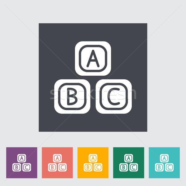 Foto d'archivio: Blocchi · icona · vettore · web · mobile · applicazioni