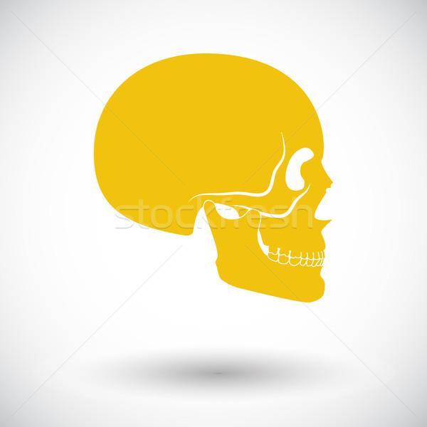 череп икона белый темно мертвых рисунок Сток-фото © smoki