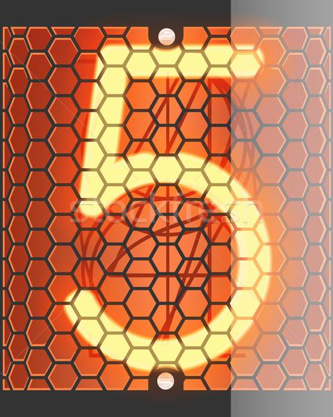 ラジオ 管 インジケータ 番号 5 レトロな ストックフォト © smoki