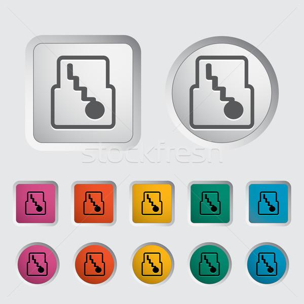 Icono automático artes eps velocidad servicio Foto stock © smoki