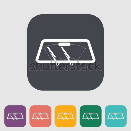 Wiper car single icon. Stock photo © smoki