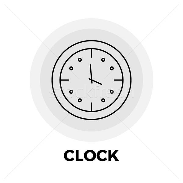 Clock Line Icon Stock photo © smoki