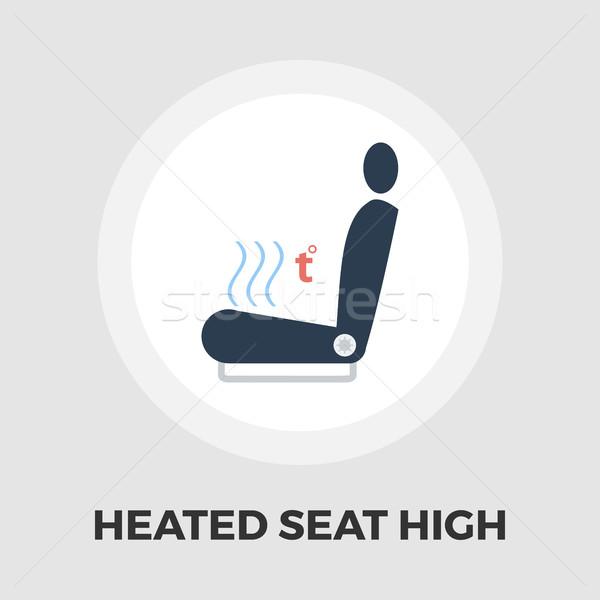 Heated seat icon flat Stock photo © smoki