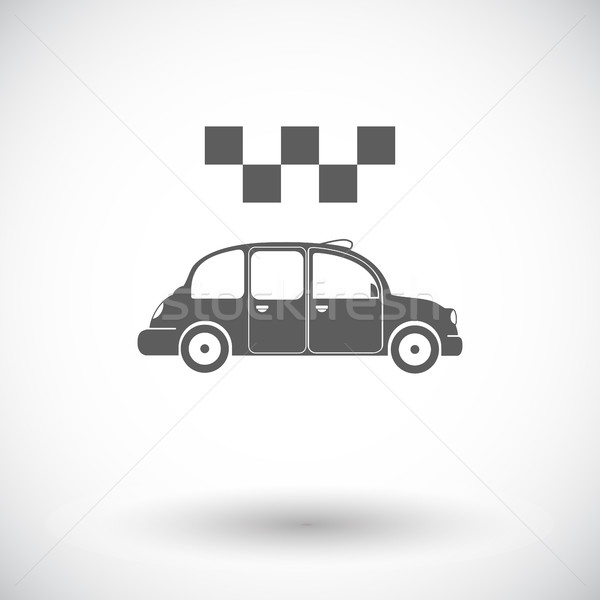 Icon taxi witte business auto ontwerp Stockfoto © smoki