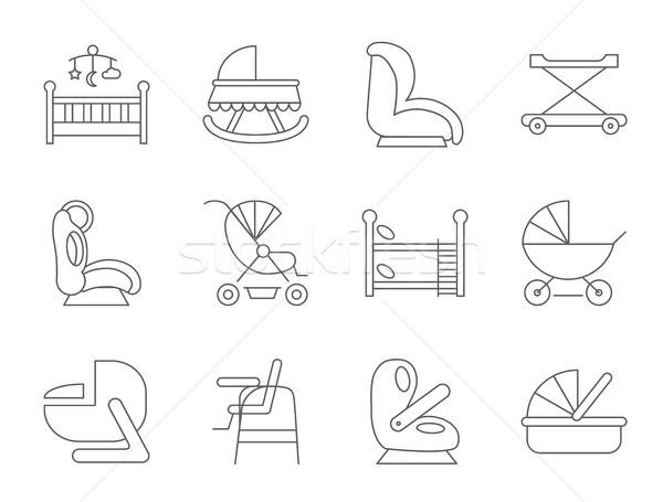 Baby furniture Stock photo © smoki
