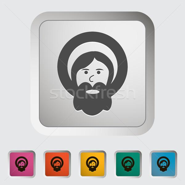 Сток-фото: Бога · икона · компьютер · весны · свет · Иисус