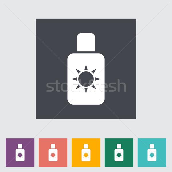 日焼け止め剤 ビーチ 芸術 オレンジ 薬 絵画 ストックフォト © smoki