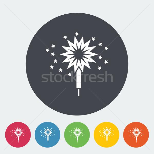 бенгальский огонь икона круга искусства весело звездой Сток-фото © smoki