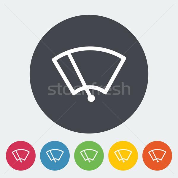 Yıkayıcı ikon daire dizayn yağmur boyama Stok fotoğraf © smoki