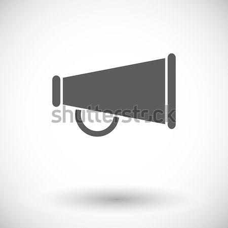 Horn single icon. Stock photo © smoki