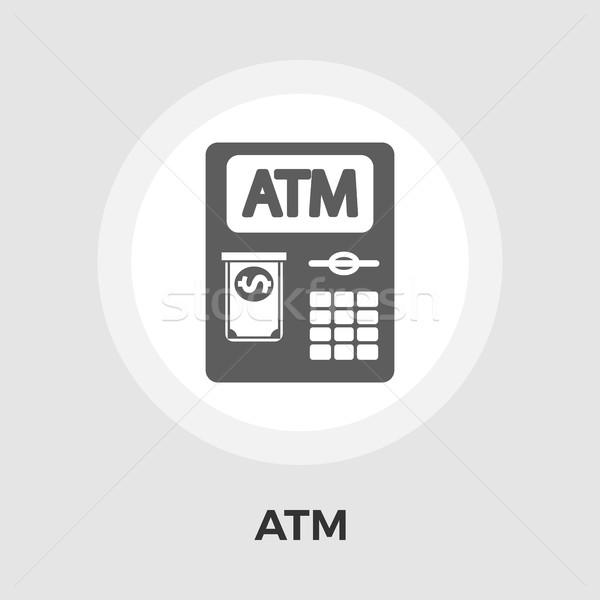 Atm ikona biały działalności ceny klawiatury Zdjęcia stock © smoki