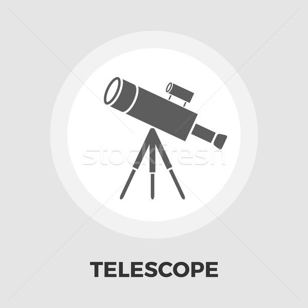 Telescopio tecnologia vetro segno verde blu Foto d'archivio © smoki