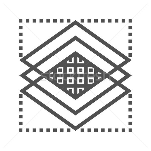 Capas línea icono delgado vector aislado Foto stock © smoki