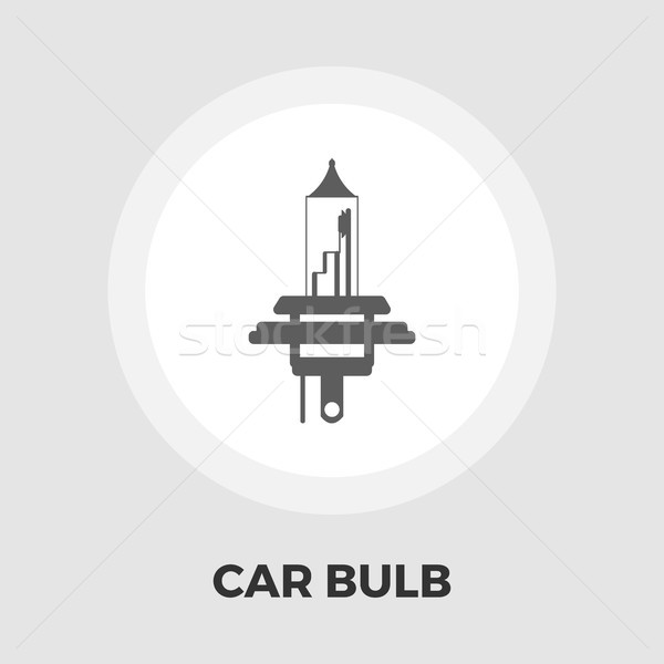 Xênon carro lâmpada ícone vetor isolado Foto stock © smoki