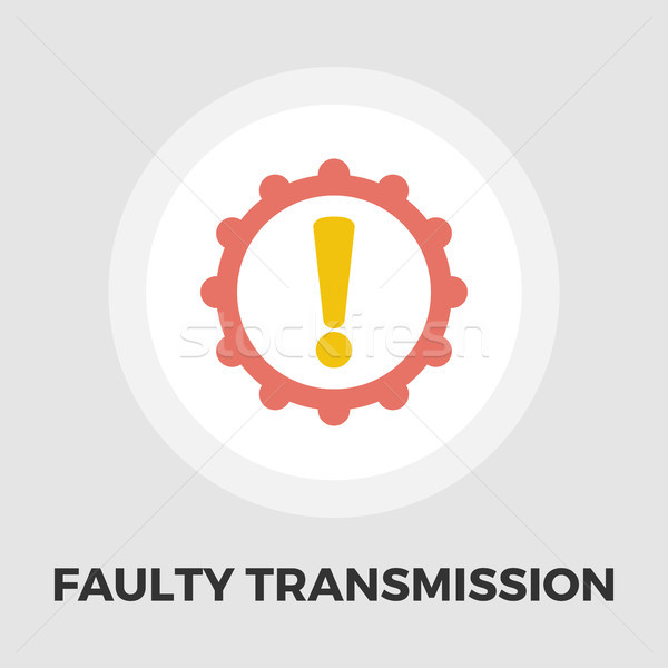 Faulty transmission flat icon Stock photo © smoki