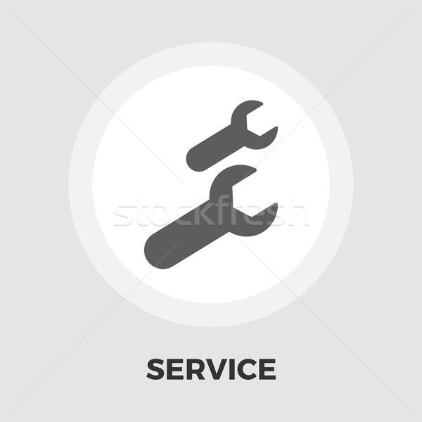 Stockfoto: Sleutel · icon · vector · geïsoleerd · witte