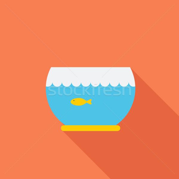 аквариум икона вектора веб мобильных применения Сток-фото © smoki