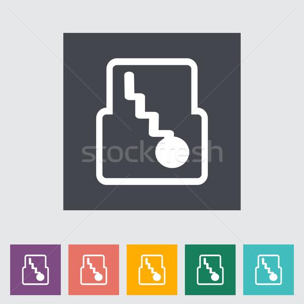 Icon automatisch versnelling eps snelheid dienst Stockfoto © smoki