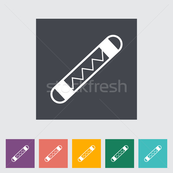Automotive fuse single flat icon. Stock photo © smoki