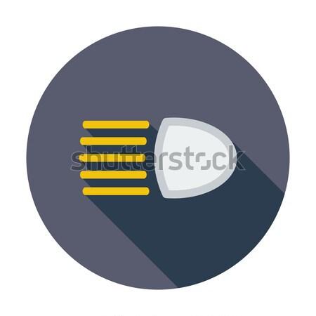 Koplamp icon kleur licht teken knop Stockfoto © smoki