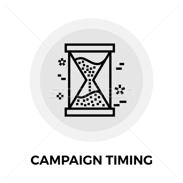 Campagne timing icon diensten vector afbeelding Stockfoto © smoki