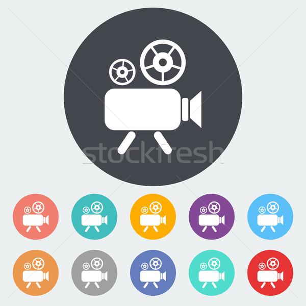 Stockfoto: Icon · cirkel · film · achtergrond · kunst