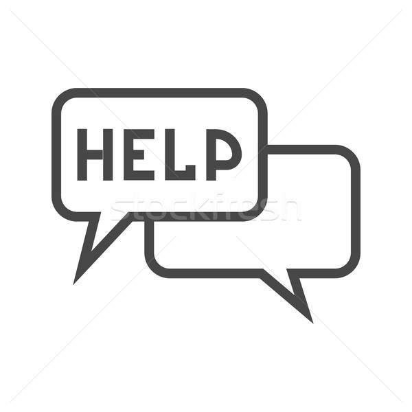 Stock photo: Help Thin Line Vector Icon.