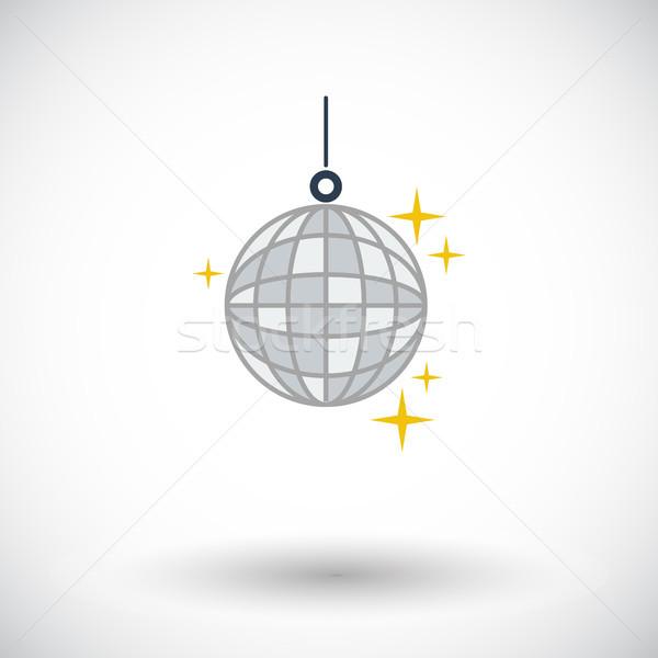 Disco ball icon witte ontwerp glas kunst Stockfoto © smoki