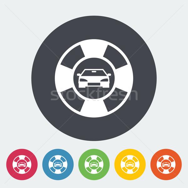 Przydrożny symbol ikona kółko samochodu pomoc Zdjęcia stock © smoki