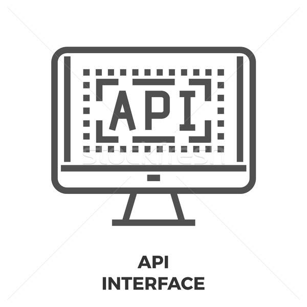 API Interface Line Icon Stock photo © smoki
