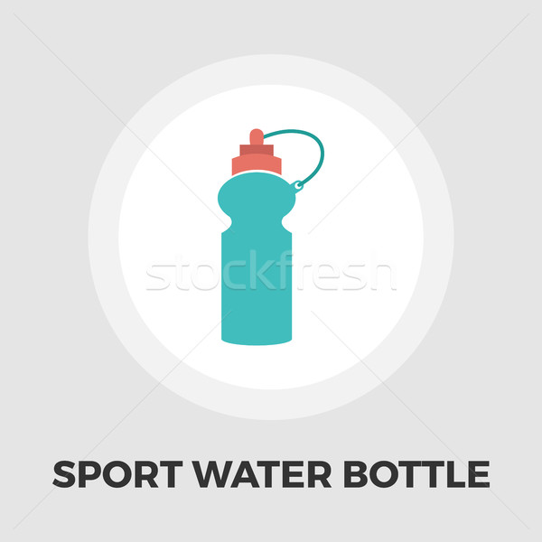 Sports water bottle icon flat Stock photo © smoki