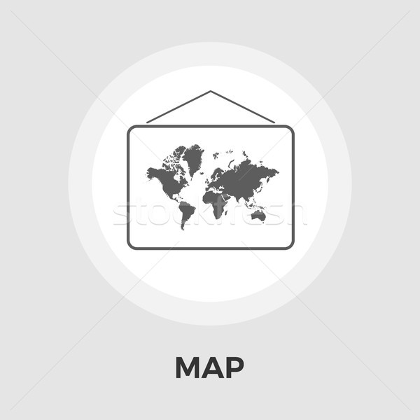 Map Flat Icon Stock photo © smoki