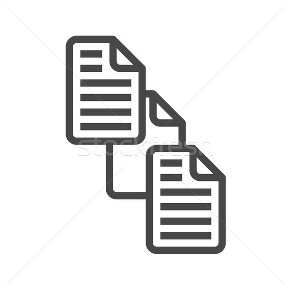 File Exchange Thin Line Vector Icon Stock photo © smoki