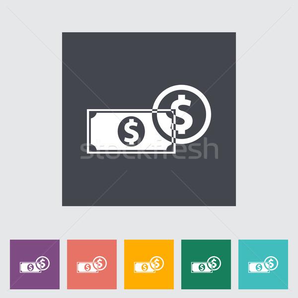 Dollar Münze Business Design Hintergrund Zeichen Stock foto © smoki