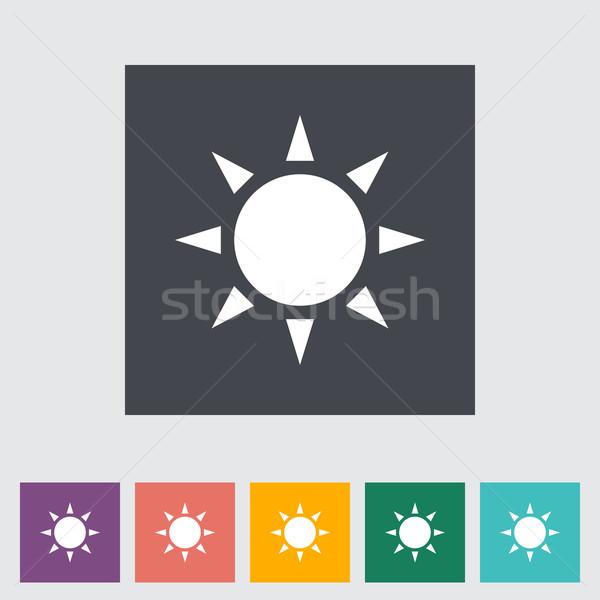 Güneş ikon soyut ışık dizayn sanat Stok fotoğraf © smoki