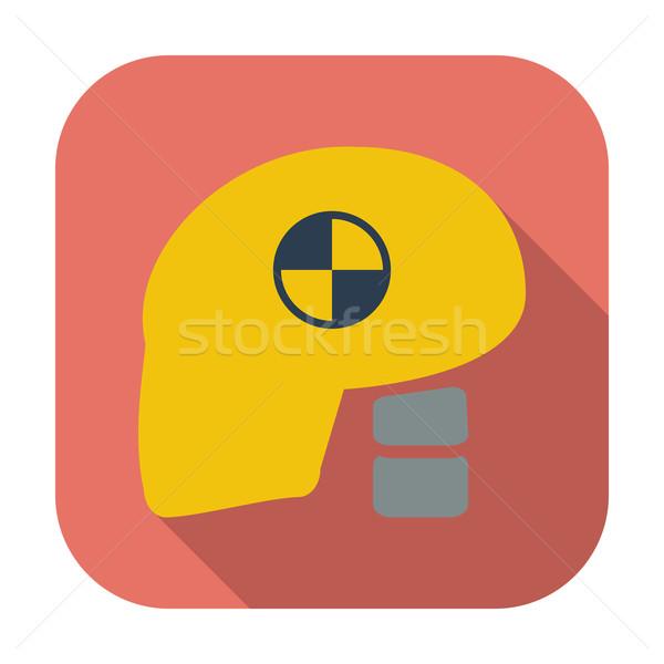 Icon dummy's head for crash test. Stock photo © smoki