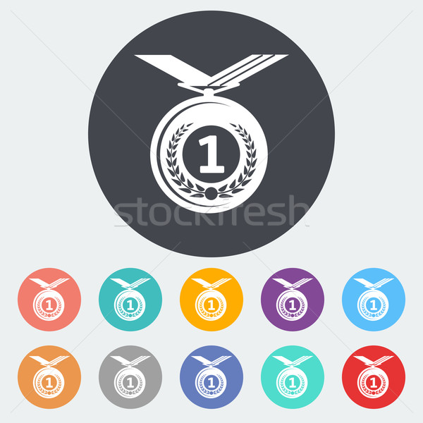 Stock photo: Icon medal.