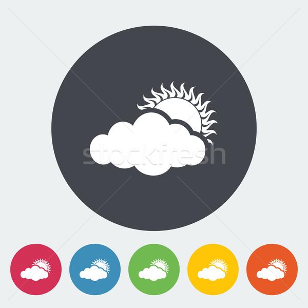 Cloudiness single icon. Stock photo © smoki